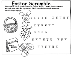 unscramble letters easter words