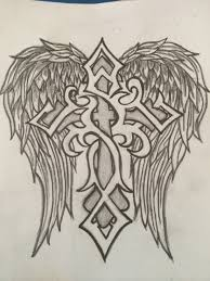 cross angel wing tattoos drew this for my boyfriend to welcome him home he loved it and