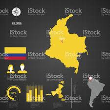 Columbia World Map by Republic Of Colombia World Map Stock Vector Art 518639705 Istock