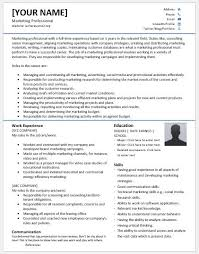 marketing skills resume marketing professional resumes for ms word resume templates