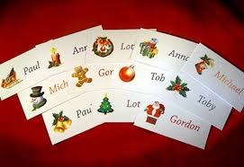 place cards for christmas table template