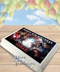 wars edible cake toppers captain america teams civil war edible image cake topper sheet