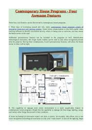 what is a contemporary or modern home plans contemporary house