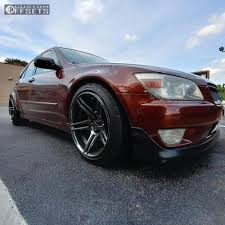custom 2003 lexus is300 wheel offset 2003 lexus is300 flush coilovers