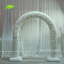 Wedding Arch For Sale Gnw 8ft Whole Sale White Big Artificial Rose Flowers Arch For