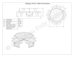 Free Octagon Picnic Table Plans And Drawings by Luxcraft Crestville Octagon Picnic Table Luxcraft