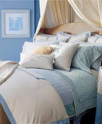 ralph lauren indochine linen cream blue linen 13pc cal king duvet cover set new