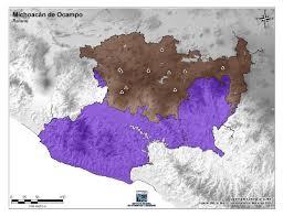 Michoacan Map Mapa Para Imprimir De Michoacán De Ocampo Mapa De Montañas De