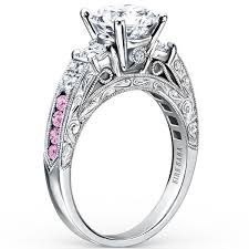 pink wedding rings images Kirk kara quot charlotte quot pink sapphire diamond engagement ring jpg