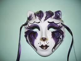mardi gras ceramic masks large glazed ceramic cat mardi gras masks ebay