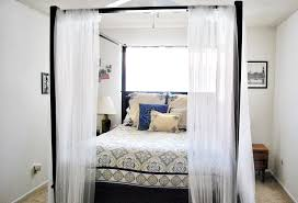 curtains for canopy bed with lights elegance curtains for canopy