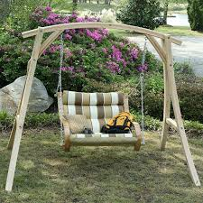 Porch Swing With Stand Amazon Com Hatteras Hammocks Cypress Swing Stand Patio Lawn