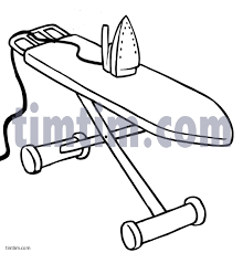free drawing of ironing board bw from the category building home