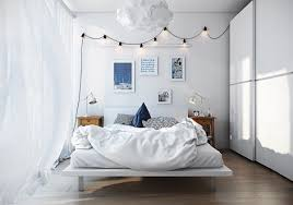 Scandinavian Bed Bedroom Sleek Scandinavian Bedroom Features Light Unfinished