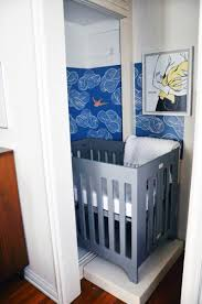 Nursery Furniture For Small Spaces - small space style baby bristow u0027s closet nursery apartment therapy