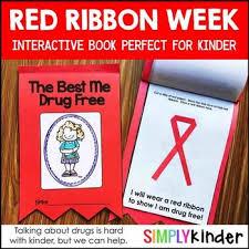 red ribbon week book for kindergarten first grade and preschool