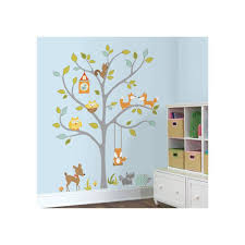 roommates 2 5 in x 27 in woodland fox and friends tree 80 piece woodland fox and friends tree 80 piece peel
