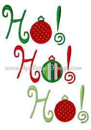 ho ho ho ornament applique design