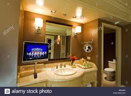 Luxurious Bathroom Luxurious Bathroom With Plasma Screen Tv Bellagio Hotel Las Vegas