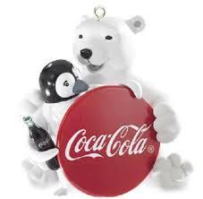 Carlton Cards Invitations Carlton Cards Heirloom White Porcelain Coca Cola Polar Bear With