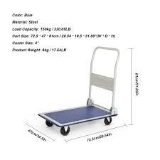 Olympia 300 Lb Capacity Folding Platform Cart amazon com ikayaa cart flatform 330 lb capacity four wheel