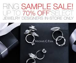 engagement rings on sale sle sale alert michael c fina merci new york