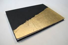 guest book with black pages large deco black and gold leaf modern wedding photo booth