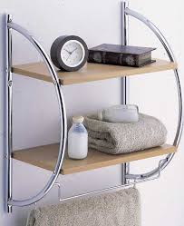 Glass Bathroom Shelf With Towel Bar Bathroom Cabinets Chrome Wall Shelf Bathroom Shelf Decor