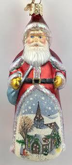 merck family world ornament glistening royal santa