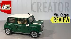 lego mini cooper engine lego mini cooper review 10242 creator expert youtube