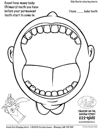 tooth coloring page paginone biz