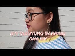 bts earrings diy bts v dangling earring dna mv youtube