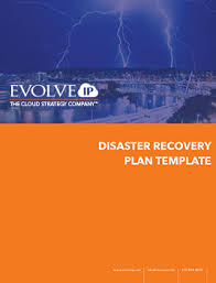 disaster recovery plan template evolve ip
