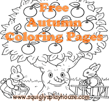 autumn coloring pages at squigly u0027s playhouse