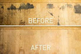removing black stains in wood furniture with oxalic acid 6 steps
