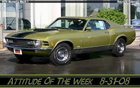 Black And Lime Green Mustang 1970 Mustang Mach 1