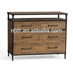 best sale industrial style metal frame reclaimed wood dresser