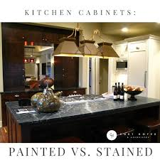 paint vs stain kitchen cabinets kitchen cabinets painted vs stained curt hofer associates