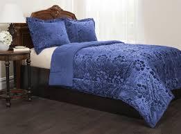 Polar Fleece Duvet Cover Amazon Com Sherpa Quilted Fleece Comforter Set Home U0026 Kitchen