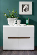 White Gloss Sideboards White Gloss Sideboard Dresser Buffet 4 Door Cabinet Modern Living