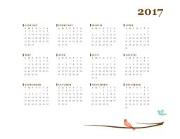 download horizontal 2017 year calendar 2017 calendar for word 2013