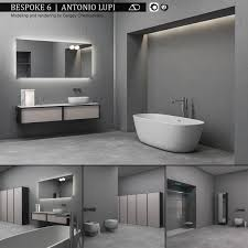 Bespoke Bathroom Furniture Bathroom Furniture Set Bespoke 6 3d Model Cgtrader