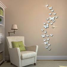 new acrylic 3d mirror wall stickers butterfly fly decals home use word wall art properly can bring big changes to your house flower and grass word wall decals for the spring blue and yellow word wall stickers for
