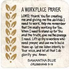 prayer for workplace buscar con oración