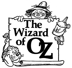wizard of oz clipart black and white pencil and in color wizard