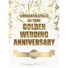 50th golden wedding anniversary champagne by bottle bazaar