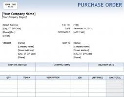 Purchase Order Template In Excel Excel Purchase Order Template Purchase Order Template Excel