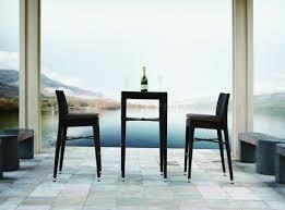 Patio Bar Tables Black Modern Patio Bar Table U0026 2 Bar Stools Set