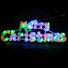 led merry christmas light sign merry christmas led sign glowing letters xmas tree decoration eu