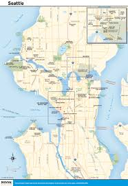 Map Of Seattle Center by Map Of Seattle Washington Roundtripticket Me